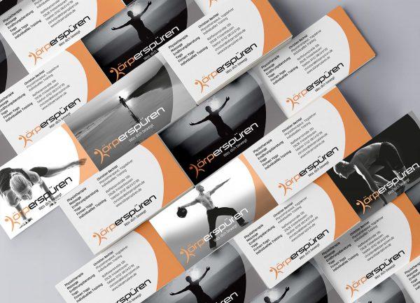 Corporate Design Visitenkarten Körperspüren