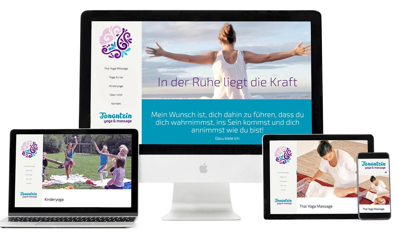 Webdesign Tonantzin Yoga