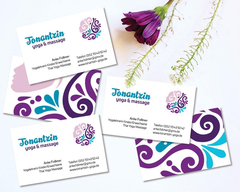 Visitenkarten Design für Tonantzin Yoga