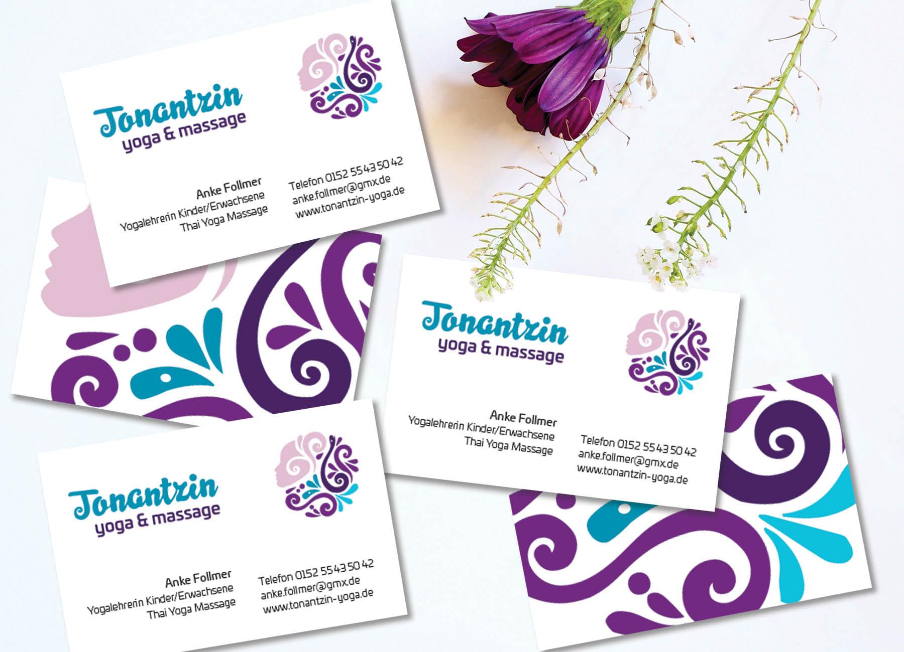 Visitenkarten Design Tonantzin Yoga